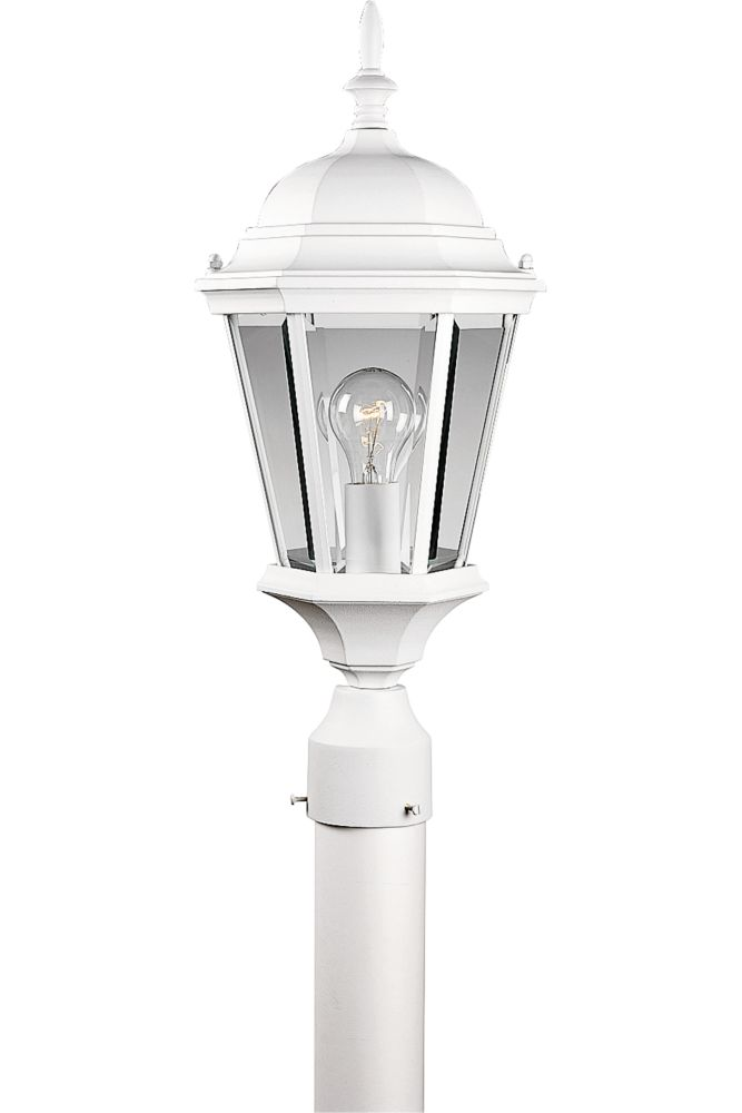 Welbourne Collection Textured White 1-light Post Lantern