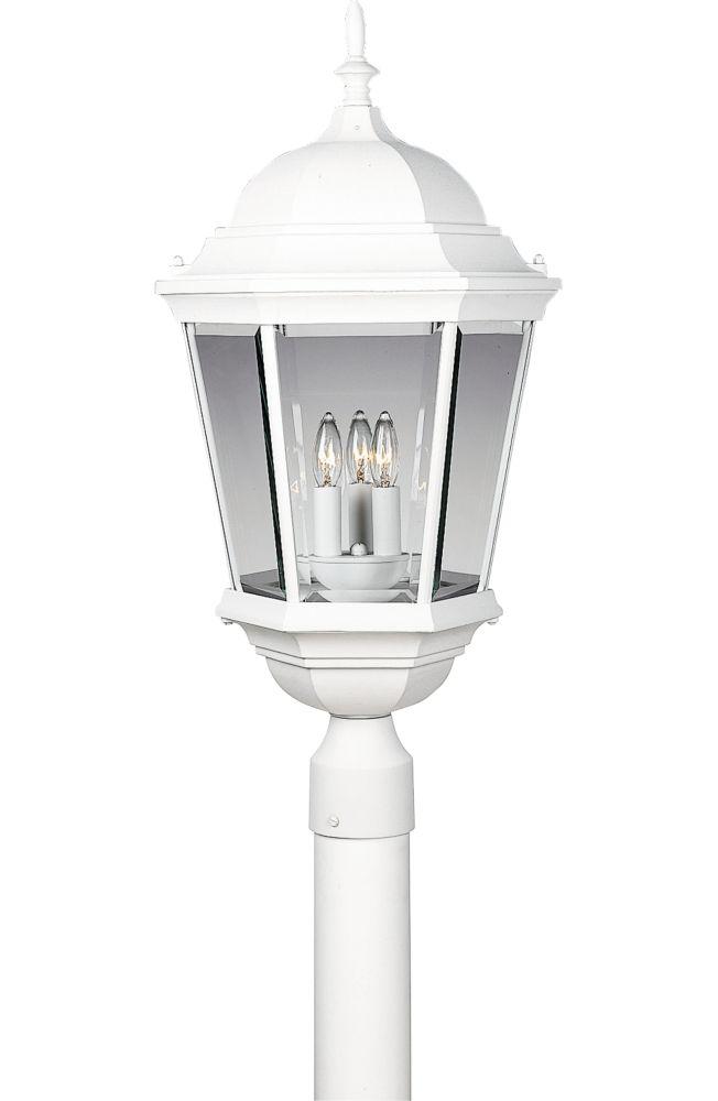 Lampadaire à 3 Lumières, Collection Welbourne - fini Blanc Texturé