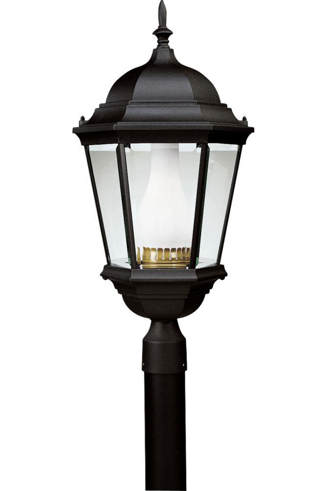 Lampadaire à 1 Lumière, Collection Welbourne - fini Noir Texturé