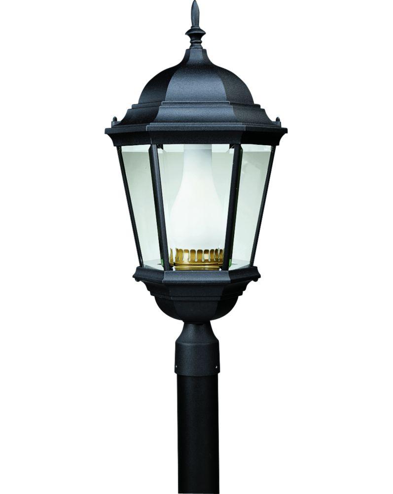 Welbourne Collection Textured Black 1-light Fluorescent Post Lantern