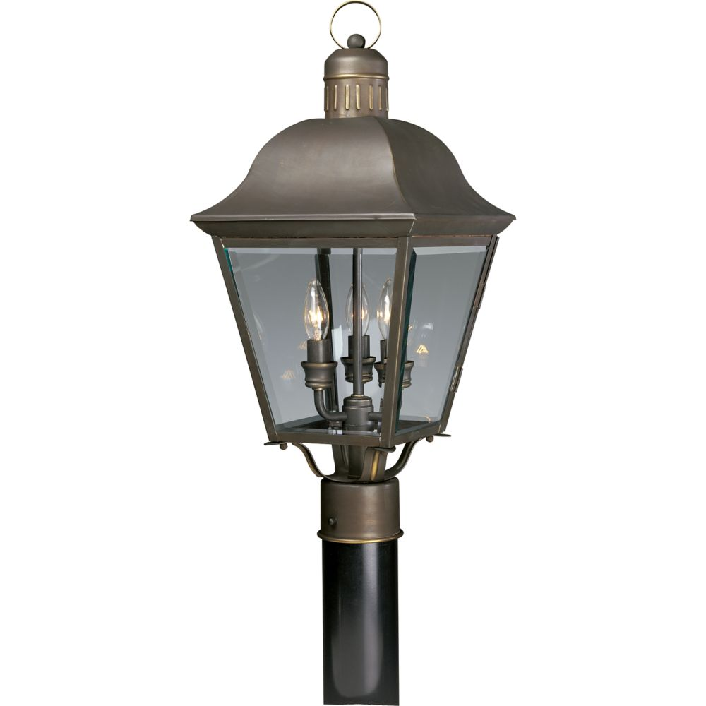 Andover Collection Antique Bronze 3-light Post Lantern