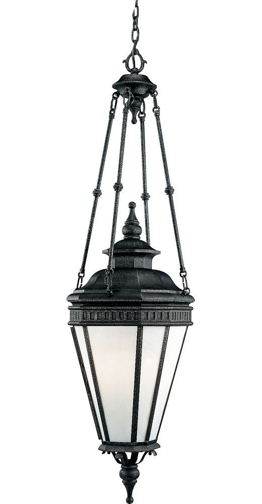 Georgian Collection Gilded Iron 4-light Hanging Lantern