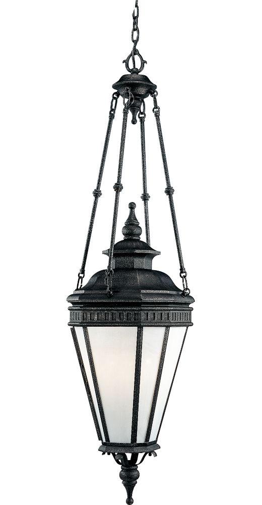 Lanterne suspendue à 4 Lumières, Collection Georgian - fini Fer Doré