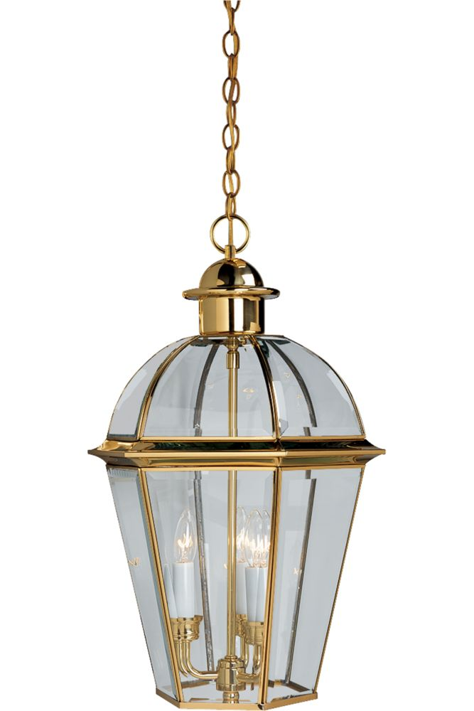 Danbury Collection Polished Brass 3-light Hanging Lantern