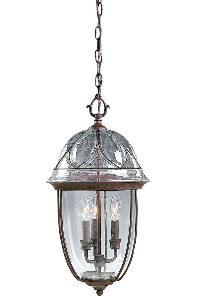 Verona Collection Cobblestone 3-light Hanging Lantern