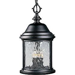 Progress Lighting Lanterne suspendue à 3 Lumières, Collection Ashmore - fini Noir Texturé