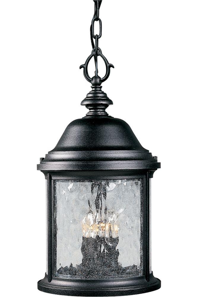 Ashmore Collection Textured Black 3-light Hanging Lantern