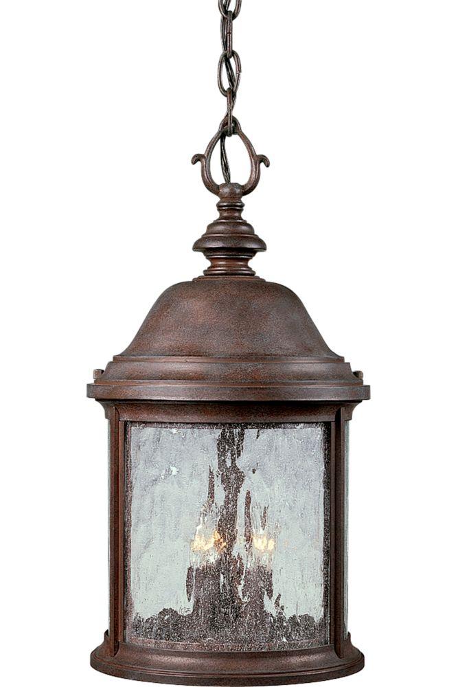 Ashmore Collection Cobblestone 3-light Hanging Lantern