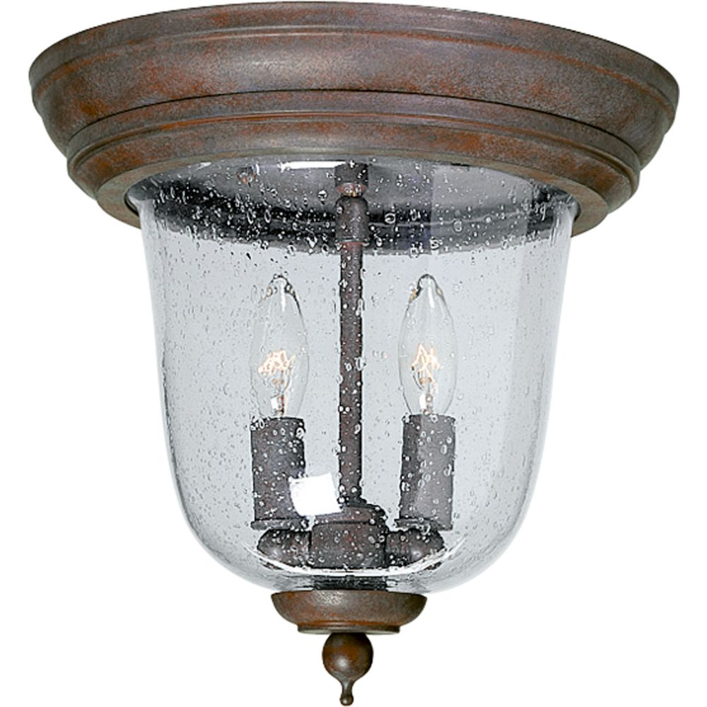 Ashmore Collection Cobblestone 2-light Outdoor Flushmount