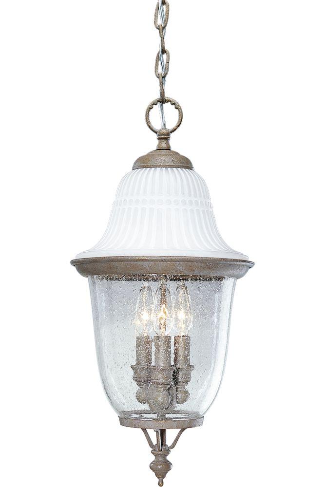 Lanterne suspendue à 3 Lumières, Collection Renaissance - fini Meule