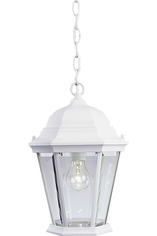 Welbourne Collection Textured White 1-light Hanging Lantern
