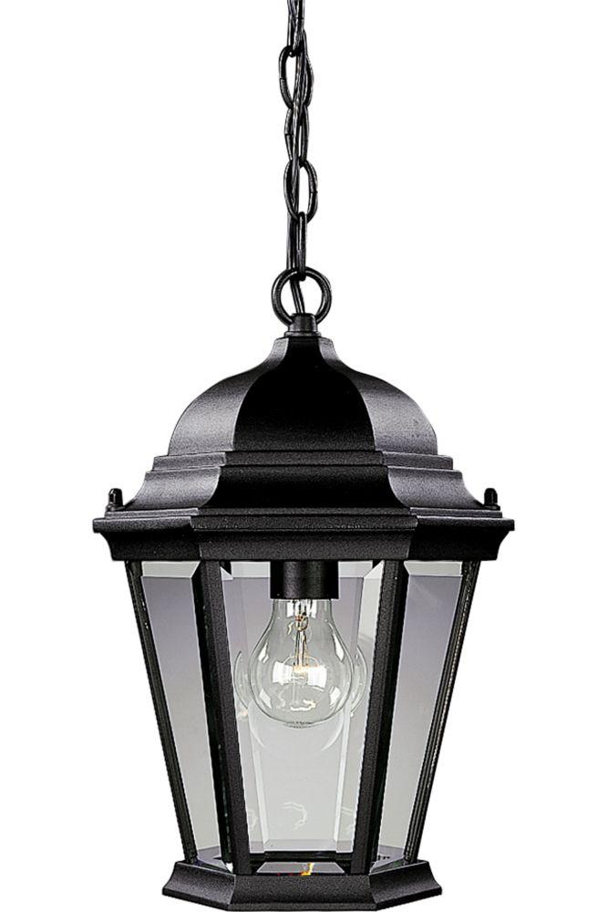 Lanterne suspendue à 1 Lumière, Collection Welbourne - fini Noir Texturé