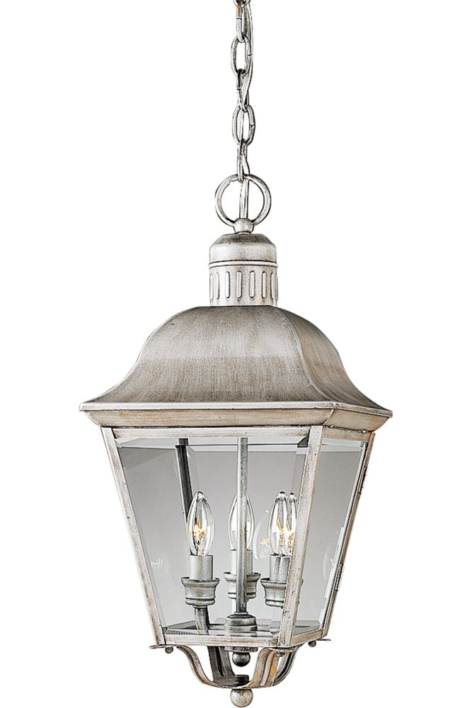 Andover Collection Oxford Silver 3-light Hanging Lantern