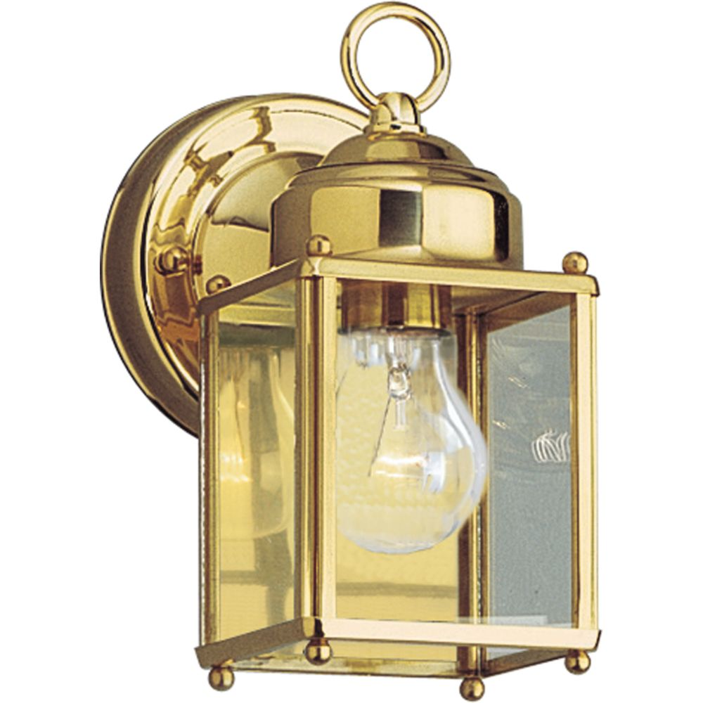 Polished Brass 1-light Wall Lantern