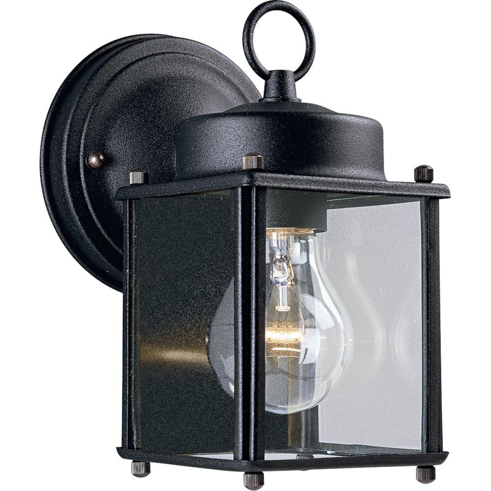 Black 1-light Wall Lantern