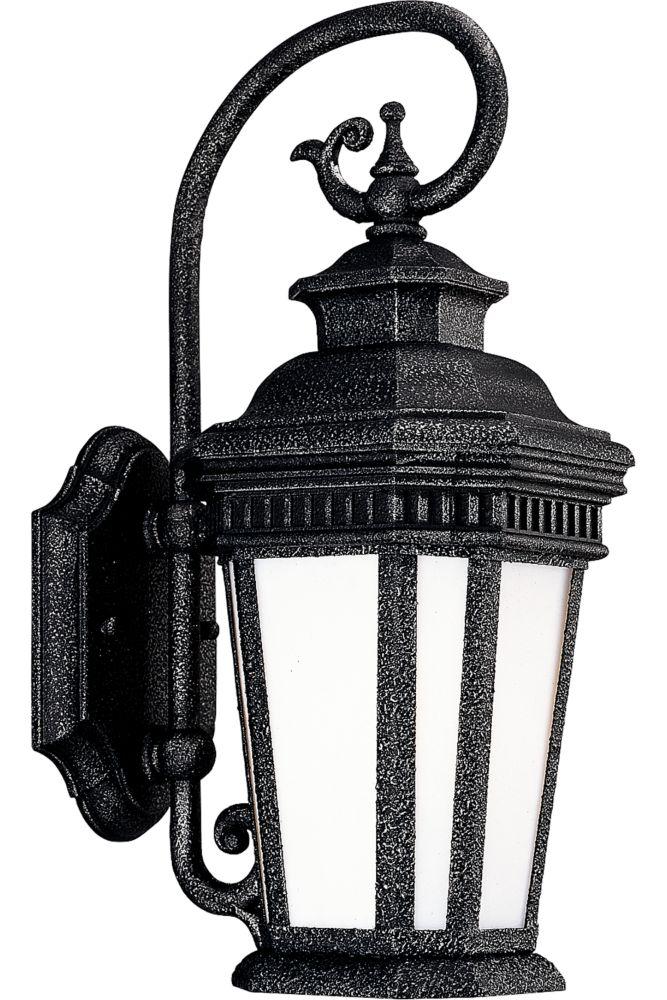 Lanterne murale à 1 Lumière, Collection Georgian - fini Fer Doré