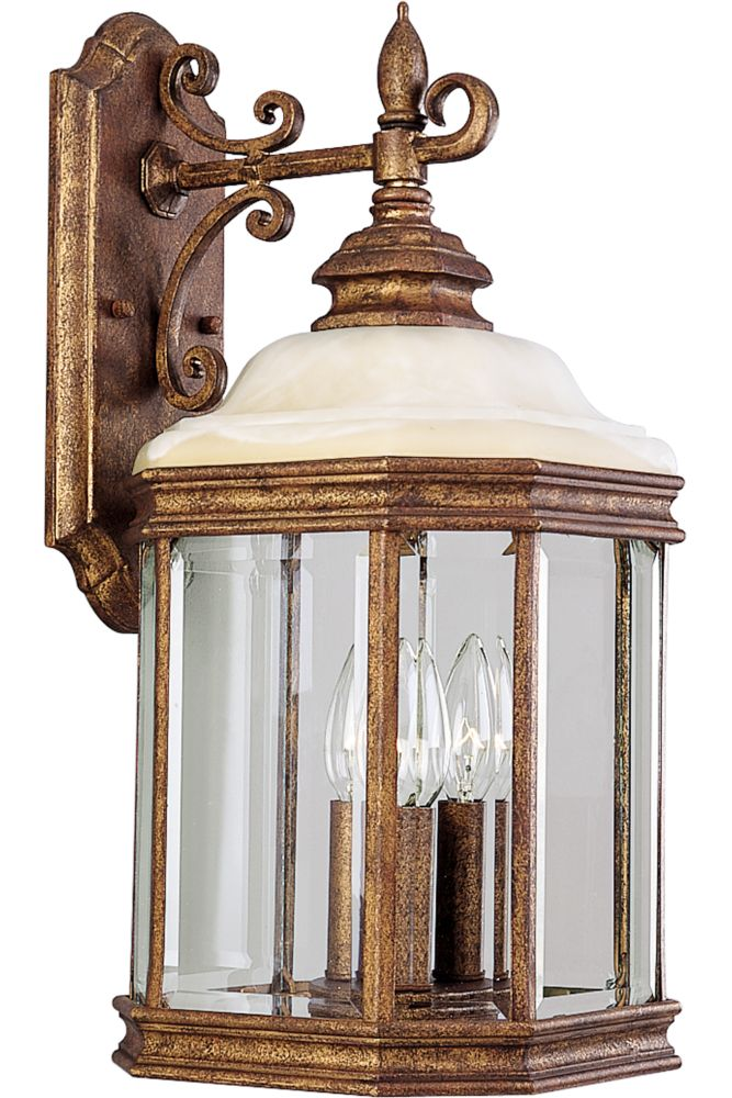Manchester Collection Golden Umber 3-light Wall Lantern