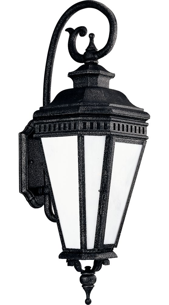 Georgian Collection Gilded Iron 3-light Wall Lantern