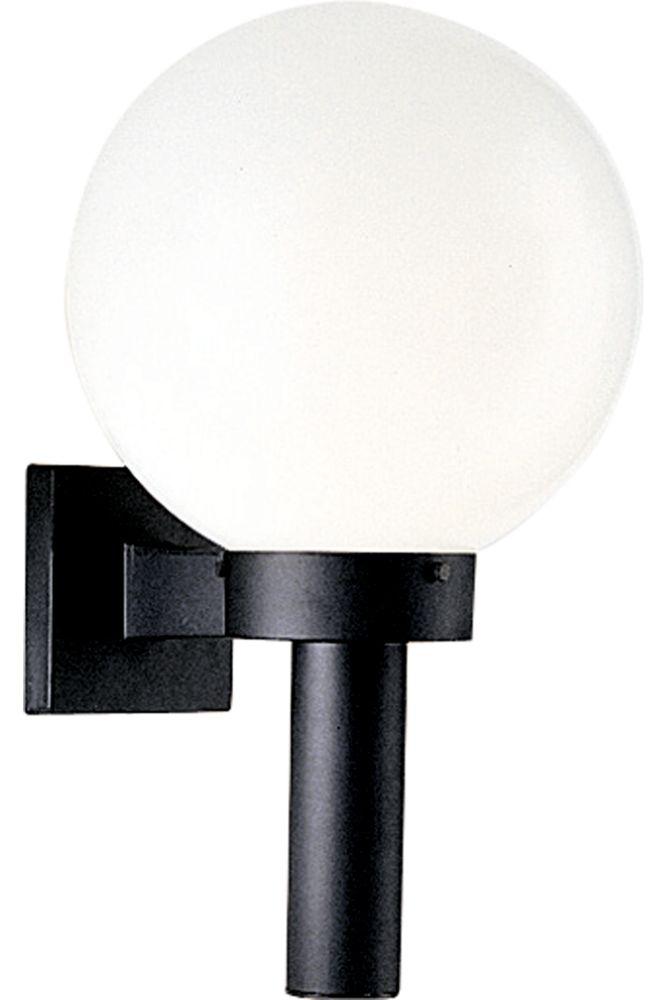 Globe Collection Black 1-light Wall Lantern