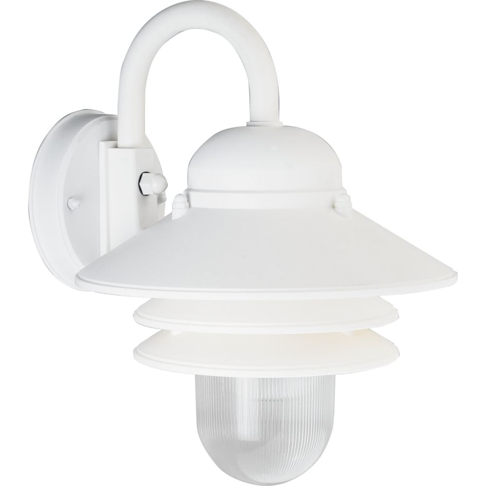Newport Collection White 1-light Wall Lantern