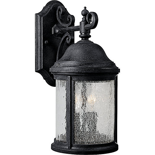 Ashmore Collection Textured Black 2-light Wall Lantern