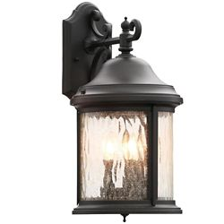 Progress Lighting Ashmore Collection 3-Light Textured Black Outdoor Wall Lantern