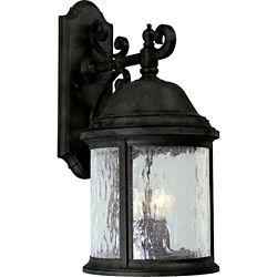 Progress Lighting Lanterne murale à 3 Lumières, Collection Ashmore - fini Noir Texturé