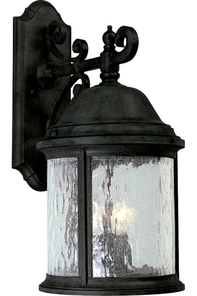 Ashmore Collection Textured Black 3-light Wall Lantern