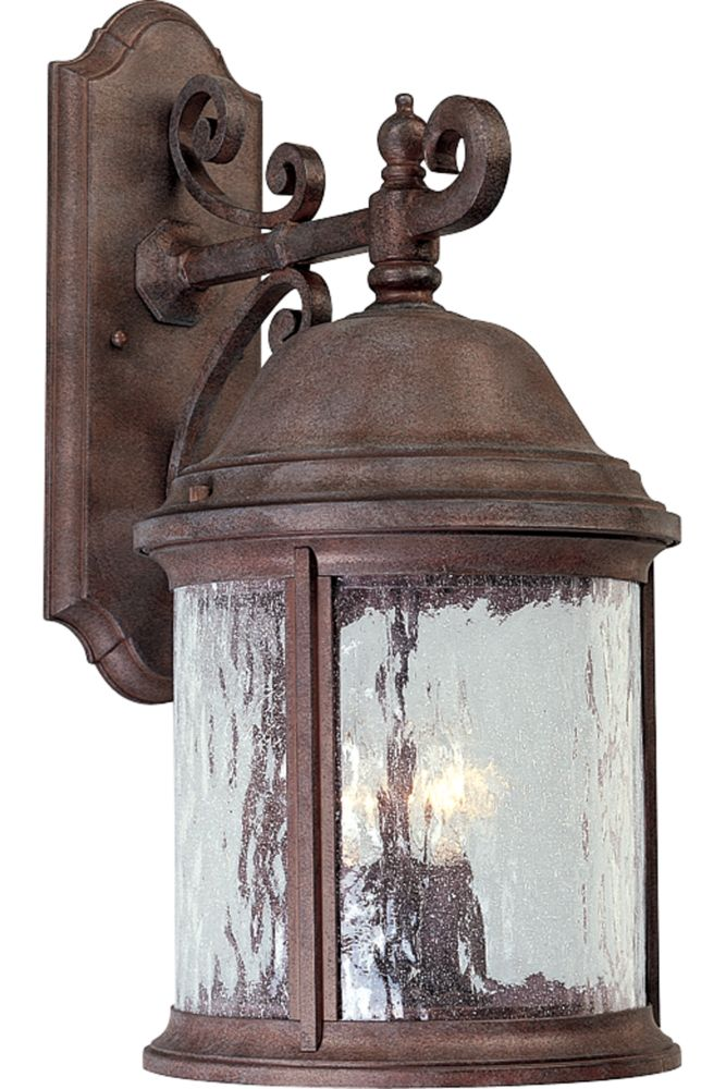 Ashmore Collection Cobblestone 3-light Wall Lantern