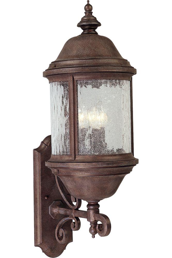 Ashmore Collection Cobblestone 3-light Wall Lantern