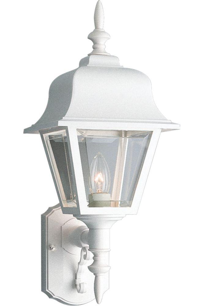 Lanterne murale à 1 Lumière - fini Blanc