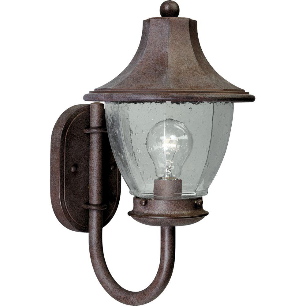 Lanterne murale à 1 Lumière, Collection Oakmont - fini Granit