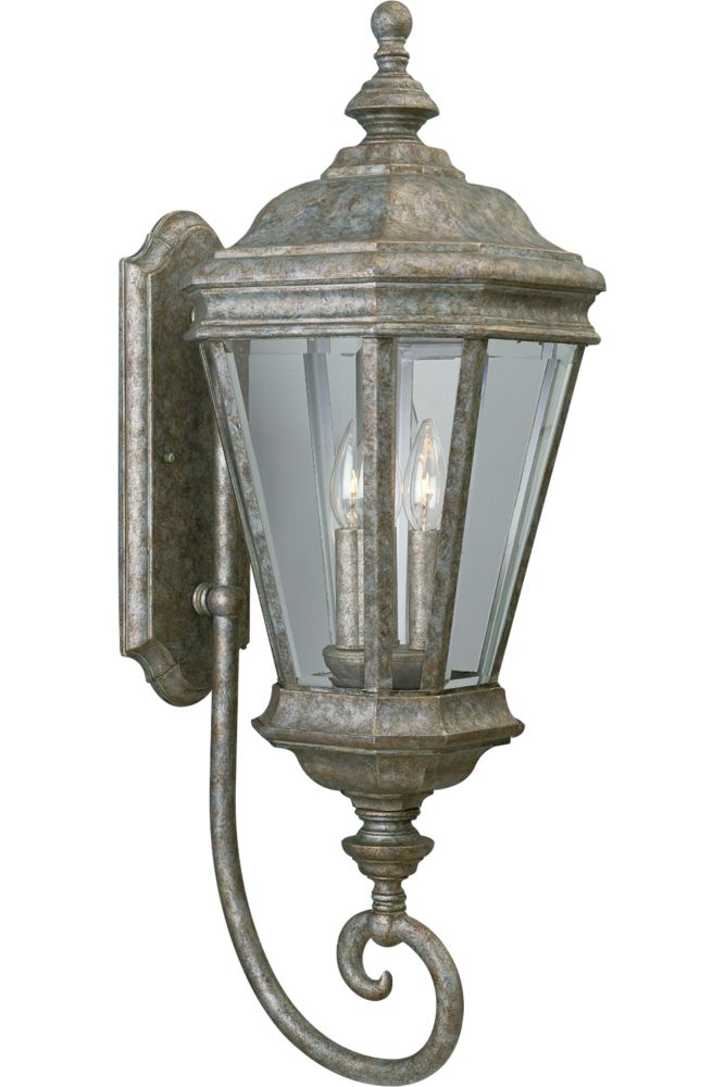 Crawford Collection Golden Baroque 3-light Wall Lantern