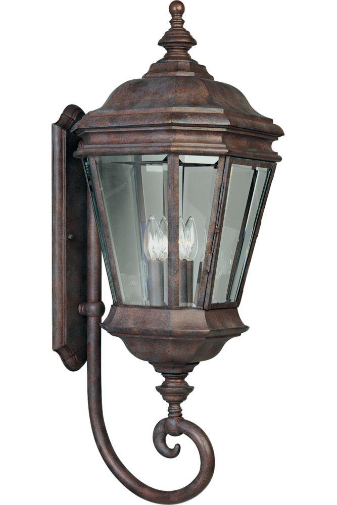 Crawford Collection Cobblestone 4-light Wall Lantern