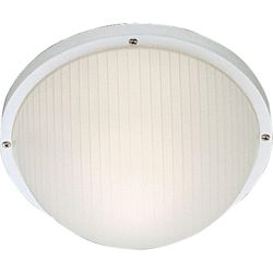 Progress Lighting 75W 1-Light White Finish with White Ribbed Polycarbonate Outdoor Wall Lantern