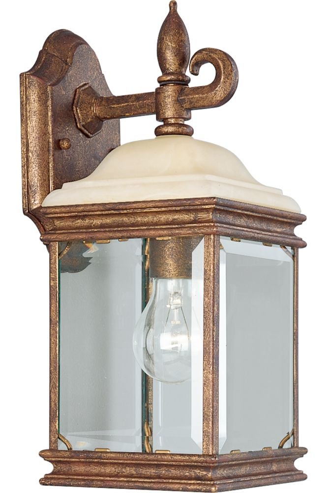 Manchester Collection Golden Umber 1-light Wall Lantern