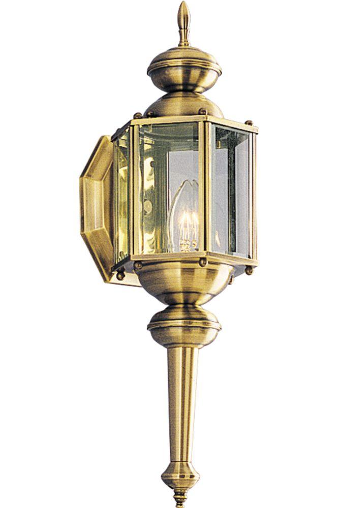 BrassGUARD Collection Antique Brass 1-light Wall Lantern