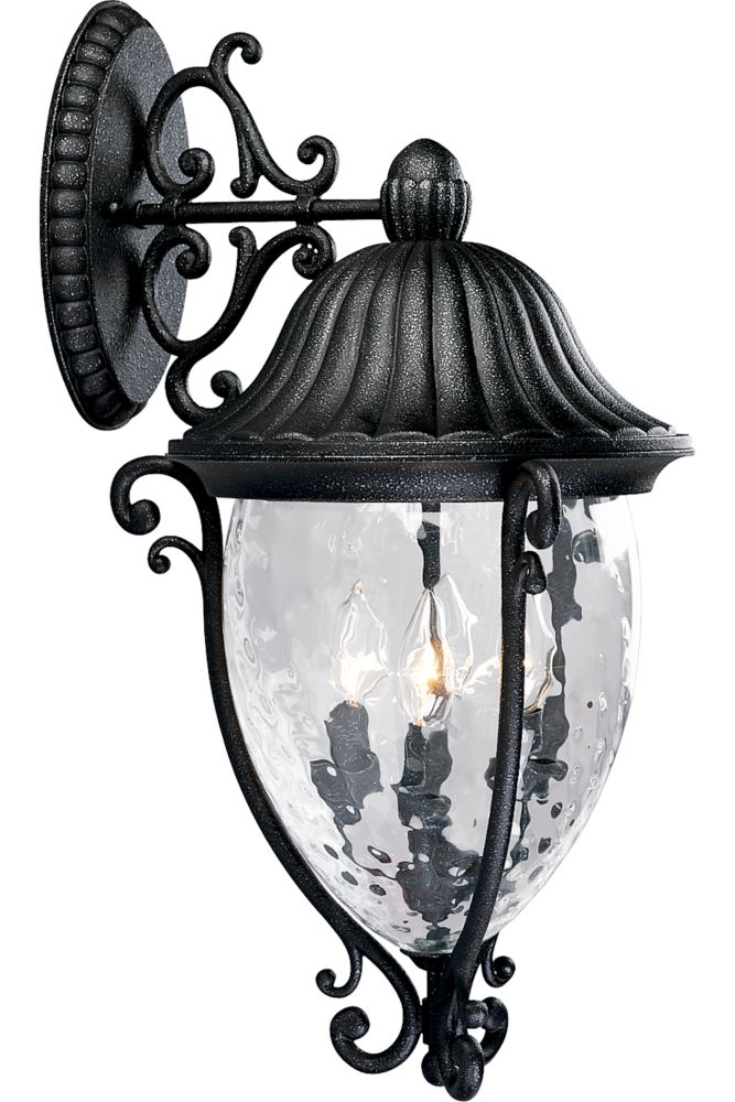 Geneva Collection Gilded Iron 4-light Wall Lantern