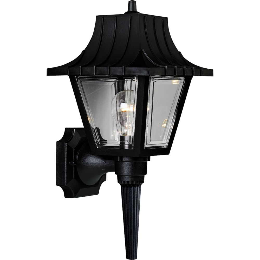 Mansard Collection Black 1-light Wall Lantern