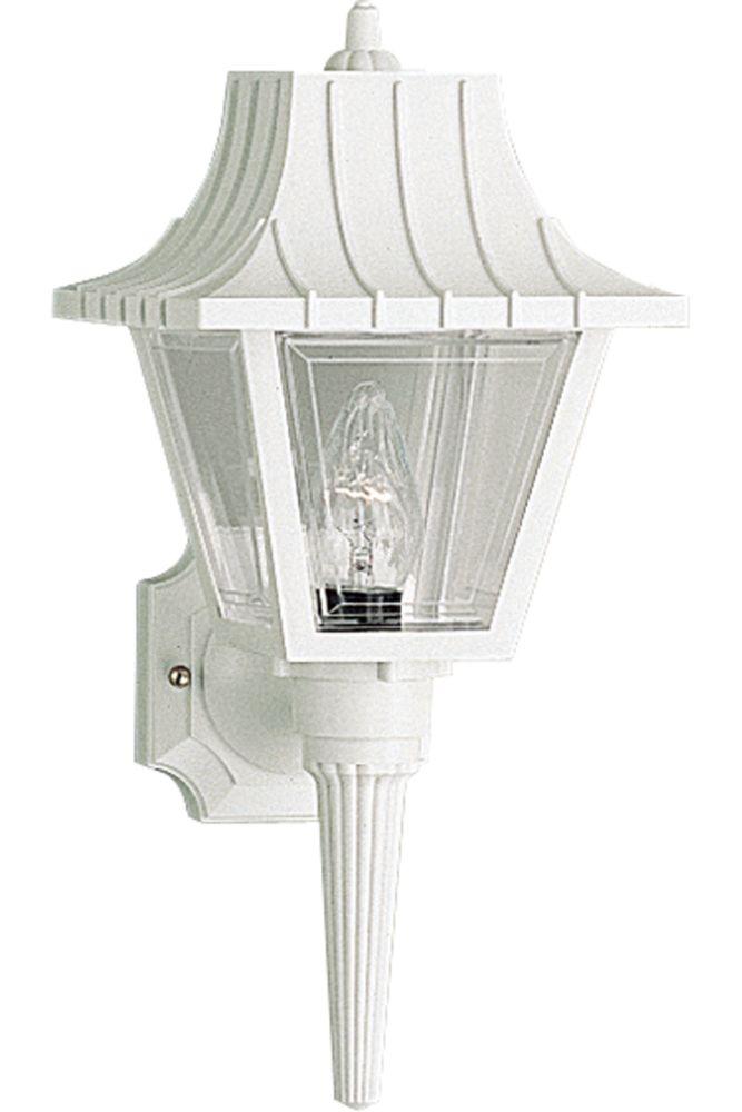 Mansard Collection White 1-light Wall Lantern