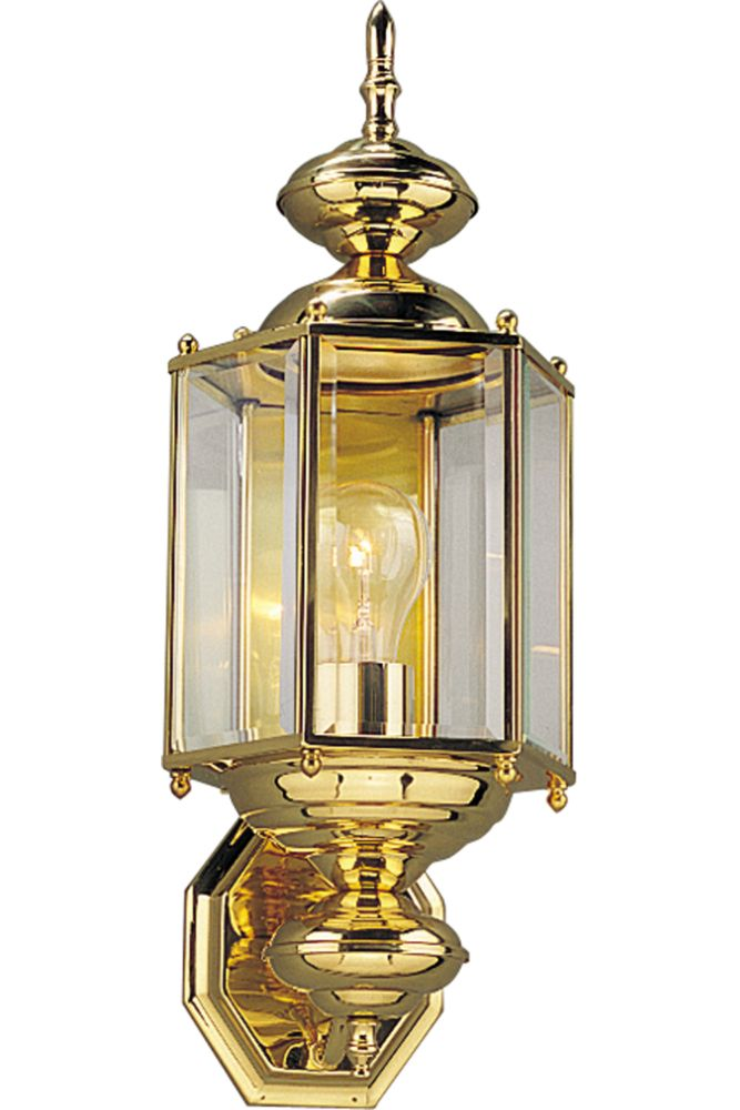BrassGUARD Collection Polished Brass 1-light Wall Lantern