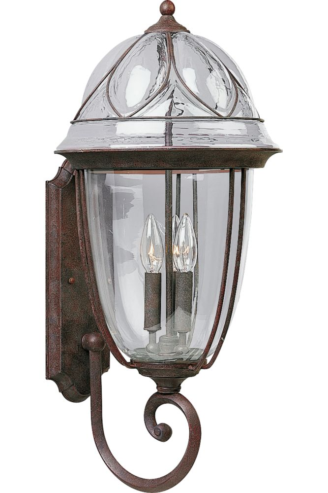 Verona Collection Cobblestone 3-light Wall Lantern