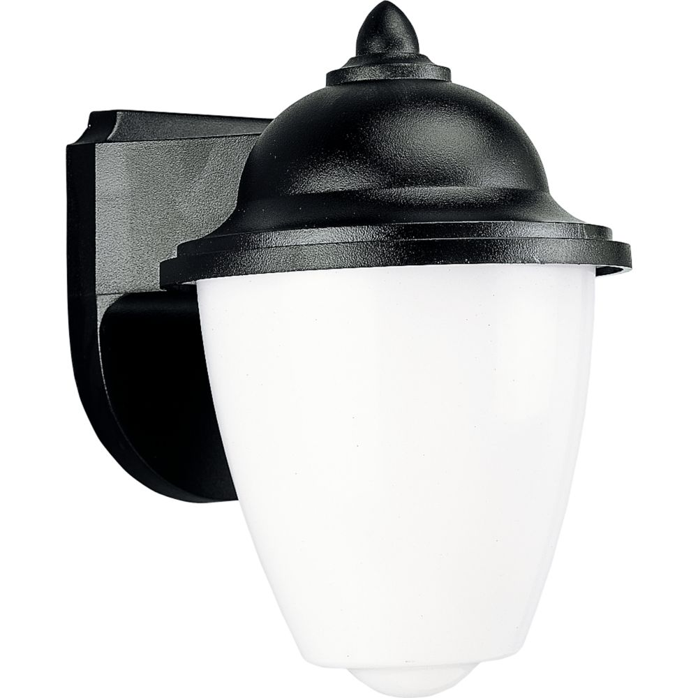 Polycarbonate Collection Black 1-light Wall Lantern