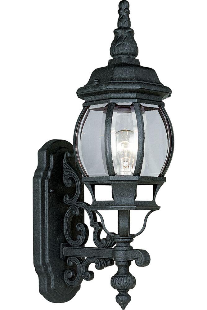 Onion Lantern Collection Textured Black 1-light Wall Lantern
