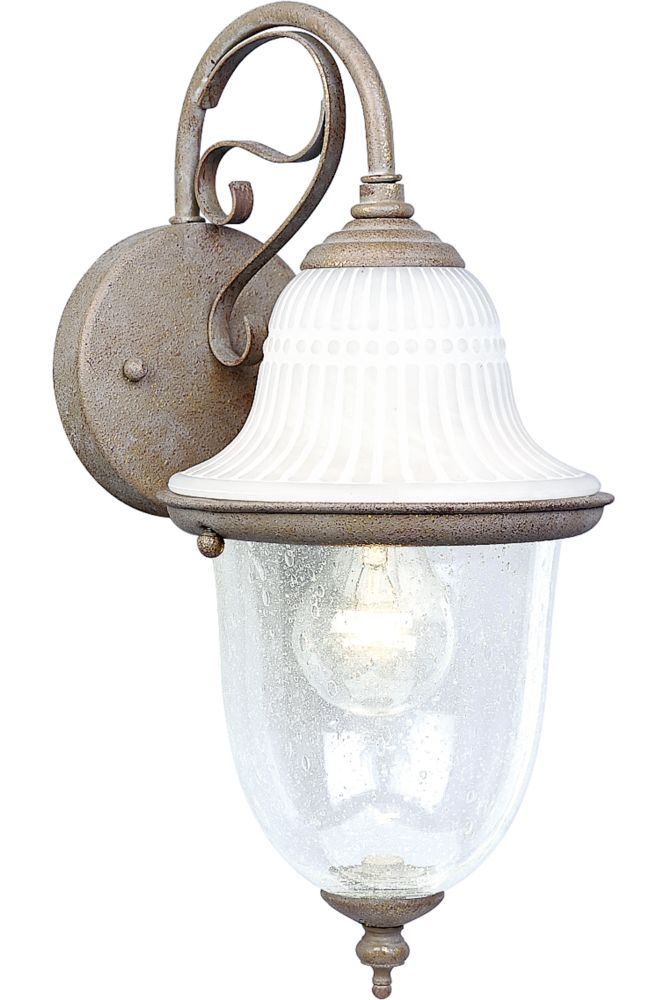 Renaissance Millstone Outdoor Wall Lantern with Alabaster Glass