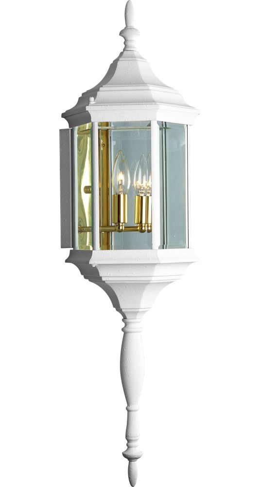 Cast Series Collection White 2-light Wall Lantern