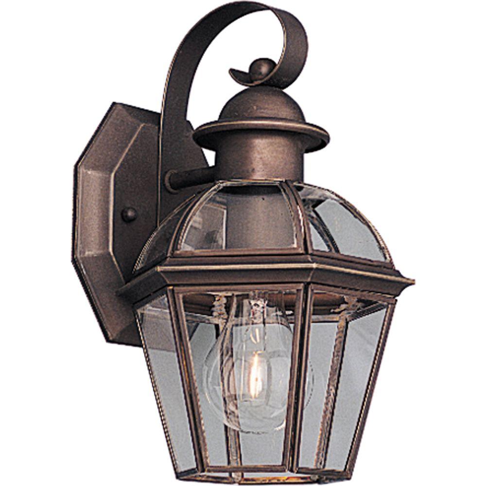 Danbury Collection Antique Bronze 1-light Wall Lantern