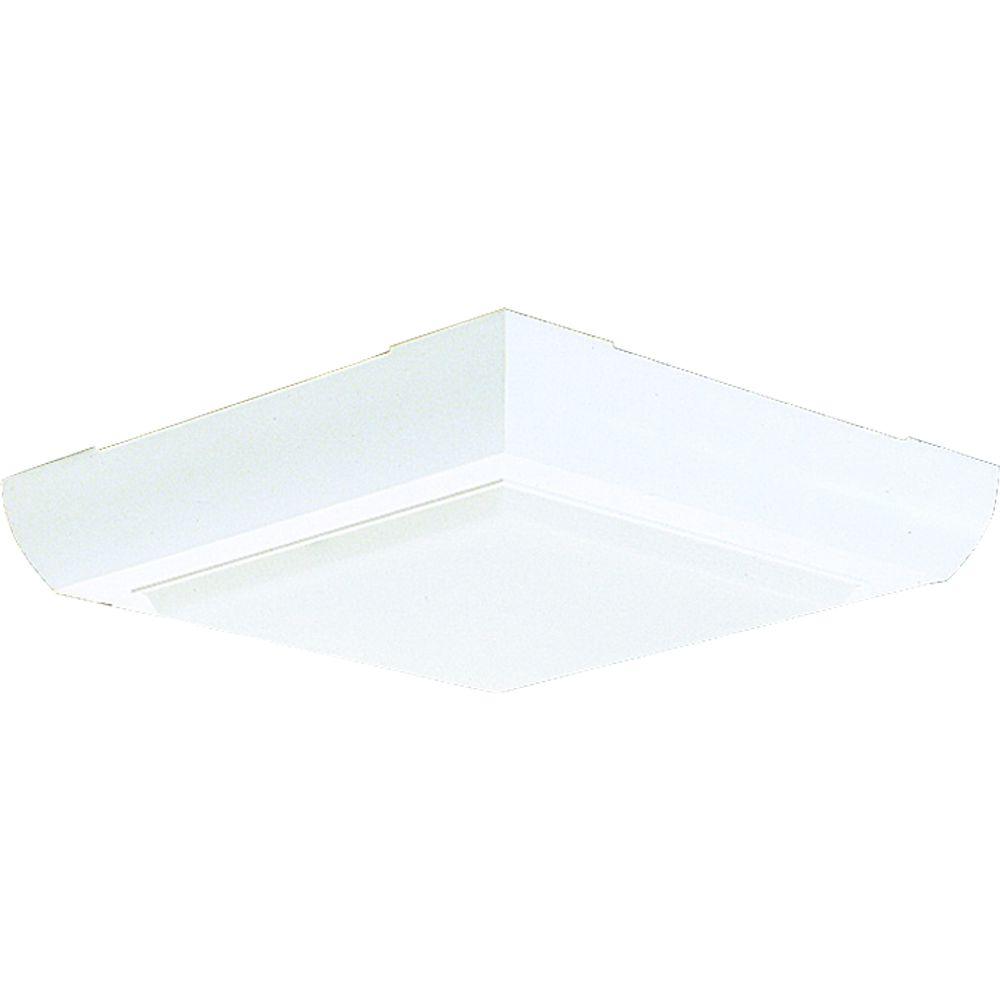 Fluorescent Light Fixtures Home Depot: Progress Lighting Flushmount Fluorescent Lighting Fixture