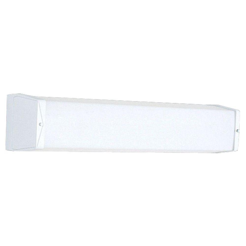 White Two-Light Wall Bracket