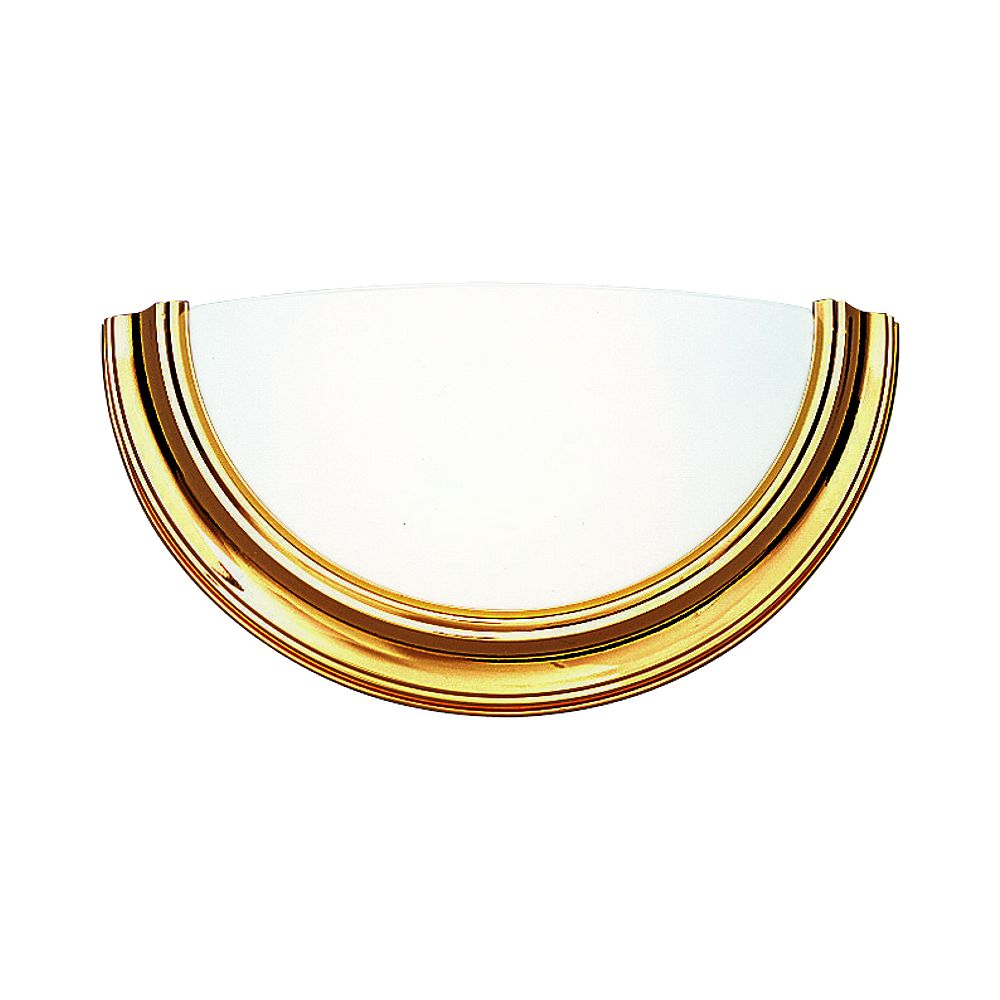 Progress Lighting Eclipse Collection Polished Brass 1-light Wall Sconce